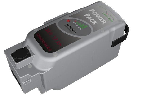 Power Pack für Panasonic Antrieb DELUXE 36V 17Ah